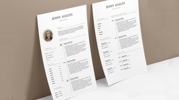 Elegant resume and cover letter template