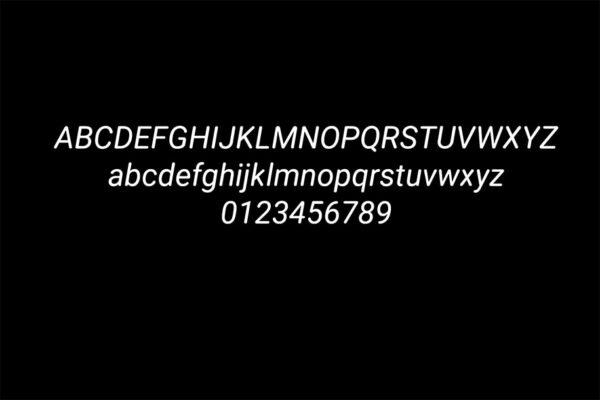 Vinson free rounded font alphabet presentation