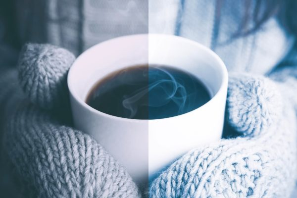 cup of coffee with winter lightroom preset from anagram design